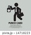点検 時間 カードのイラスト 14718223