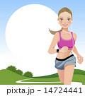 ジョギング ランニング エクササイズのイラスト 14724441