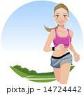 ランニング ジョギング エクササイズのイラスト 14724442