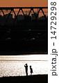 多摩川 夕焼け 夕暮れの写真 14729298