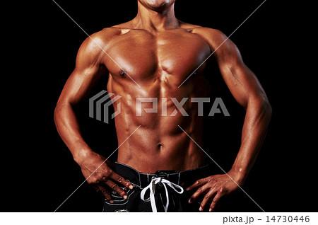 男性アスリートの筋肉 14730446