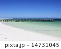 桟橋 砂浜 海の写真 14731045
