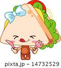 サンドイッチ ベクター マンガのイラスト 14732529