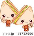 合図 ベクター サンドイッチのイラスト 14732559