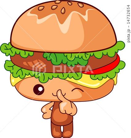 可愛いハンバーガーのイラスト素材 14732654 Pixta