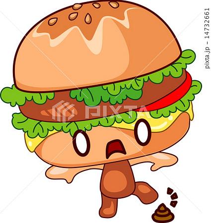 可愛いハンバーガーのイラスト素材 14732661 Pixta