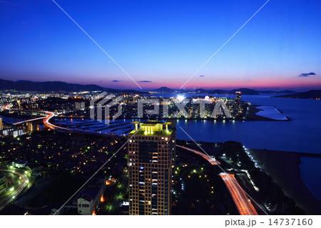 福岡タワーからの博多の夜景 14737160