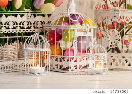 Easter birdcageの写真素材 [14758005] - PIXTA