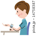 血圧測定 血圧計 ベクターのイラスト 14758387