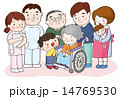 介護 車椅子 介護士のイラスト 14769530