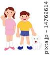 兄妹とペット 14769614