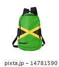 Jamaica flag backpack isolated on white 14781590