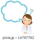 考える女性医師 医療 コピースペース 14797762