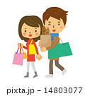 夫婦で買い物【二頭身・シリーズ】 14803077