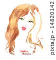 女性 メス 顔のイラスト 14820142