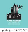 クラッシュ 破壊 飛行機のイラスト 14828226