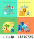 Travel Flat Icon Set 14830725