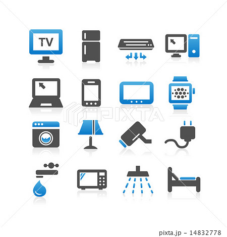 household electric appliance icon set 14832778