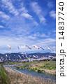 泳ぐ こいのぼり 川の写真 14837740