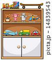 棚 シェルフ おもちゃのイラスト 14839543