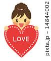 メッセージカード バレンタインデー ハートのイラスト 14844002