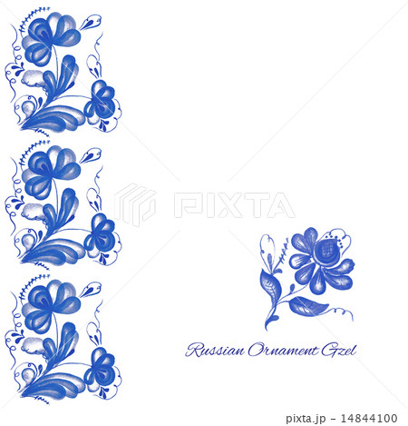 Russian ornament gzelのイラスト素材 [14844100] - PIXTA