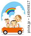 夏 ドライブを楽しむ家族 14849817