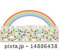 背景素材 車 虹のイラスト 14886438