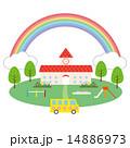 素材-虹,幼稚園,遊具,園バス 14886973