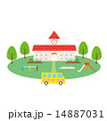 素材-幼稚園,遊具,園バス 14887031