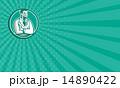 ビジネスカード 名刺 ワーカーのイラスト 14890422