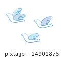 羽ばたく鳥たちクレヨンタッチ 14901875