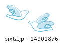 羽ばたく鳥クレヨンタッチ 14901876