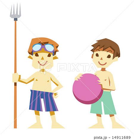 夏の水着のサバイバル少年たち 14911689