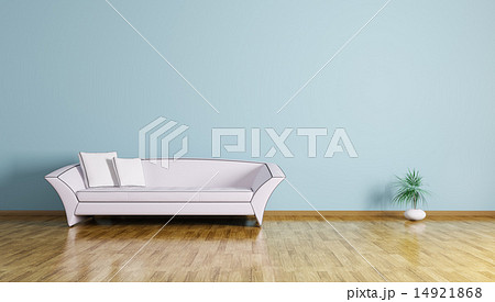 Interior of a room with sofa 3d renderのイラスト素材 [14921868] - PIXTA