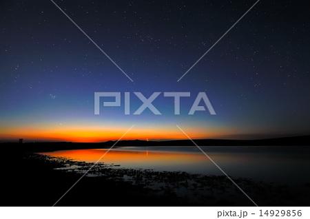 lake water at sunset/sunrise
