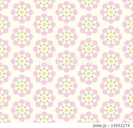 pink vintage flower pattern on pastel backgroundのイラスト素材