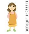 エプロン 主婦 エプロン姿のイラスト 14933841