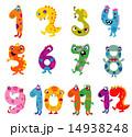 Cartoon monsters numbers 14938248