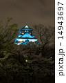 天守閣 大阪城 ブルーライトの写真 14943697