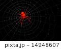 赤い透明な蜘蛛 14948607