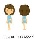 女性の前と後 14958227