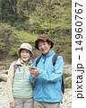 ハイキング シニア シニア夫婦の写真 14960767