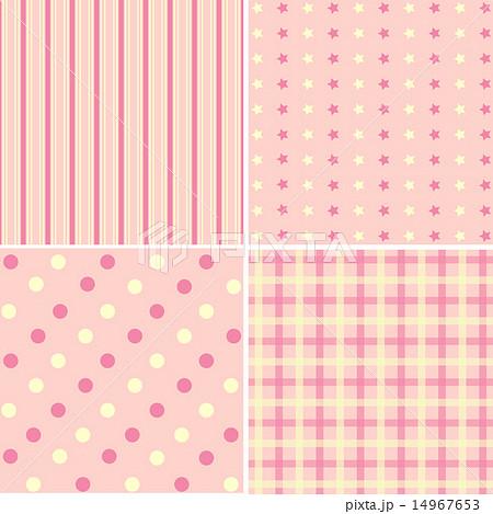Set of 4  background patterns  pastel tones.のイラスト素材 [14967653] - PIXTA