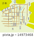 マップ ベクター 京都のイラスト 14973468