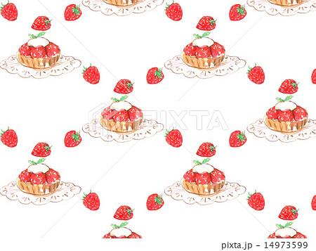 苺 イチゴ いちご 果物 食べ物 苺タルト ケーキ デザート スイーツ 甘い 美味しい おしゃれ 焼のイラスト素材