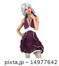 ドレスアップ ドレス 女性のイラスト 14977642