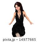 ドレスアップ ドレス 女性のイラスト 14977665