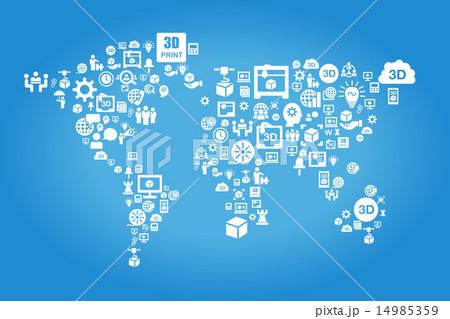 Global 3D printer business concept 14985359