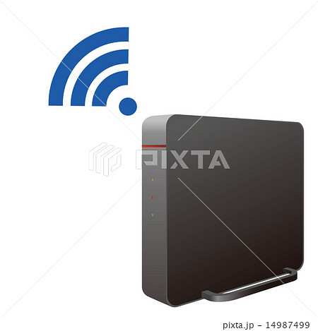 無線LANルータのイラスト素材 [1...